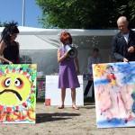 To af vores kunstnere: Pia Fack Pape og HC Errebo har dystet i en art battle